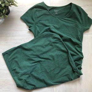 Isabel Maternity short sleeve shirted dress size L